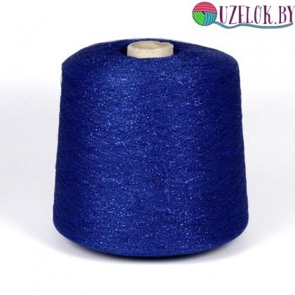 Вискоза-люрекс арт. STRASS пр-во IGEA 2300м/100гр.  синяя вискоза+  синий люрекс