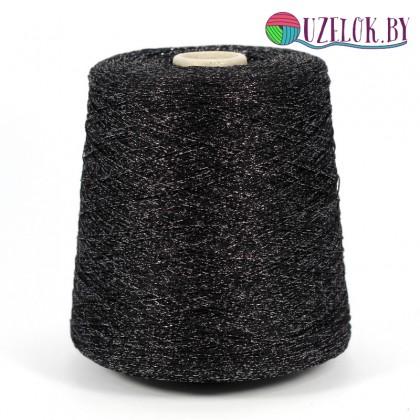 вискоза/люрекс  арт BRILLINO   720м/100г  чёрный+лиловый люрекс