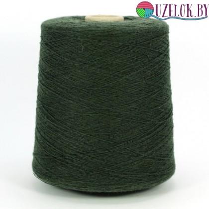 100% кардная шерсть    арт. SUPER SOFT  пр-ль NEW MILL  1/15  1500м/100гр  тёплый оттенок хвойной зелени